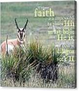 Without Faith Canvas Print