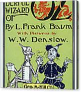 Wizard Of Oz Book Cover  1900 Canvas Print