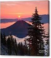 Wizzard Island Sunrise 4 Canvas Print