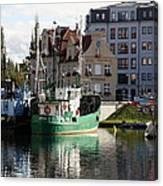 Wladyslawowo And Gdynia In Gdansk Harbor Canvas Print