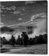 Wnc Morning In Black And White Canvas Print