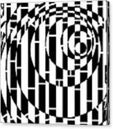 Wobbly Circles Maze  Canvas Print