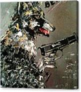 Wolf In Sheep's Clothing Canvas Print