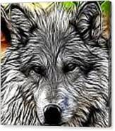 Wolf Line Art  Canvas Print