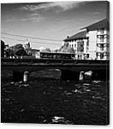wolfe tone bridge and jurys hotel next to the quays on the corrib river Galway city county Galway Republic of Ireland Canvas Print