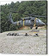 Wolfhounds Air Assault From A Uh-60 Canvas Print