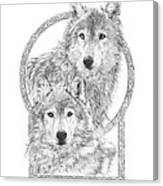 Canis Lupus II - Wolves - Mates For Life  Canvas Print