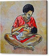 Woman And Child Canvas Print