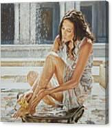 Woman Bathing 2013 Canvas Print