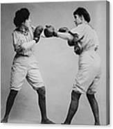 Woman Boxing Canvas Print
