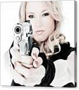 Woman Defense Canvas Print