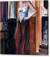 Woman Dressed Canvas Print