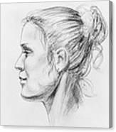 Woman Head Study Canvas Print