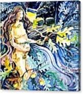 Woman Holding An Acorn -  Canvas Print
