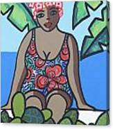 Woman In Bathing Suit 4 Canvas Print