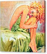 Woman In Blissful Ecstasy Canvas Print