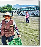 Woman In China Canvas Print