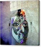 Woman In Silver Mask Canvas Print