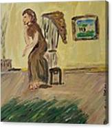 Woman In The Art Gallery Canvas Print