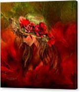 Woman In The Poppy Hat Canvas Print