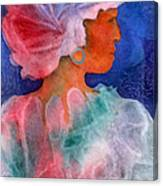 Woman In Turban Canvas Print