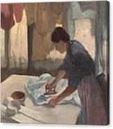 Woman Ironing Canvas Print