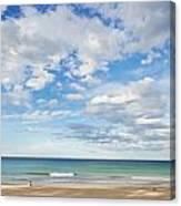 Woman On Manly Beach In Sydney Australia Canvas Print