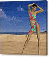 Woman On The Beach... Canvas Print