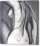 Woman Turning Her Back - Female Nude Canvas Print