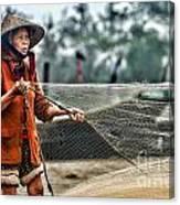 Woman Vietnam Color Canvas Print