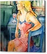 Woman Waiting  Canvas Print