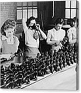 Woman War Workers Assembling Oxygen Canvas Print