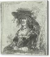 Woman With Hat, Print Maker Jan Chalon Canvas Print