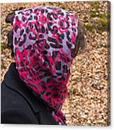 Woman With Headscarf In The Forest - Quirky And Surreal Canvas Print