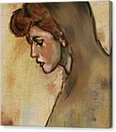 Woman With Hood Canvas Print