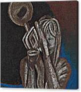 Woman With Trumpet Canvas Print