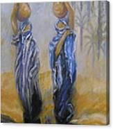 Women And Water Canvas Print