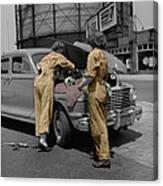 Women Auto Mechanics Canvas Print