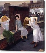 Women Drying Their Hair 1912 Canvas Print