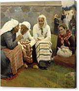 Women Outside The Church - Finland Canvas Print