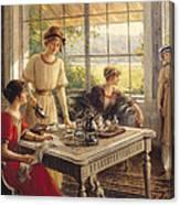Women Taking Tea Canvas Print