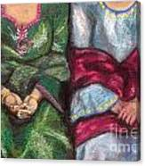 Women Wearing Shawls II Canvas Print