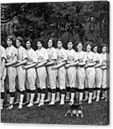 Women's Baseball Team Canvas Print