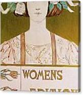 Womens Edition Buffalo Courier Canvas Print