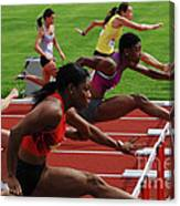 Womens Hurdles 3 Canvas Print