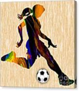 Women's Soccer Canvas Print