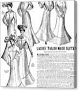 Women's Wear, 1902 Canvas Print