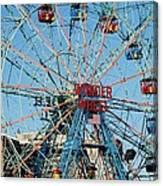 Wonder Wheel Of Coney Island Canvas Print