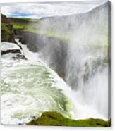 Wonderful Waterfall Gullfoss In South Iceland Canvas Print