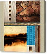 Wood And Stone Rectangular Textures Canvas Print